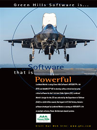 Lockheed Martin F-35 Joint Strike Fighter, RTOS, Secure Systems, Small Footprint, VT Technology, Embedded Development Tools, Hypervisor, Toolkits, Toolchain