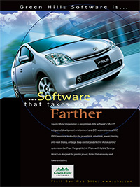 Toyota Prius, RTOS, Small Footprint, VT Technology, Embedded Development Tools, Hypervisor, Toolkits, Toolchain